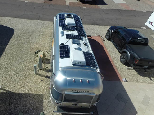 Airstream solar installation with 900 watts - Precision RV