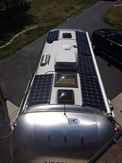 Airstream Solar Installation Lithium Ion Batteries
