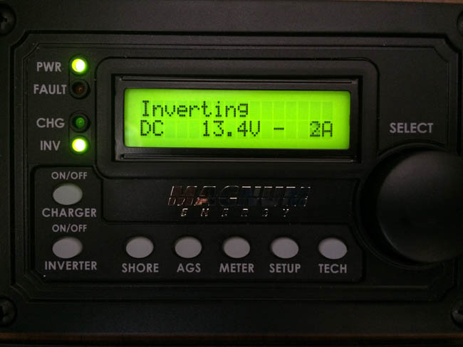 Monitoring the RV Solar Power Inverter setup