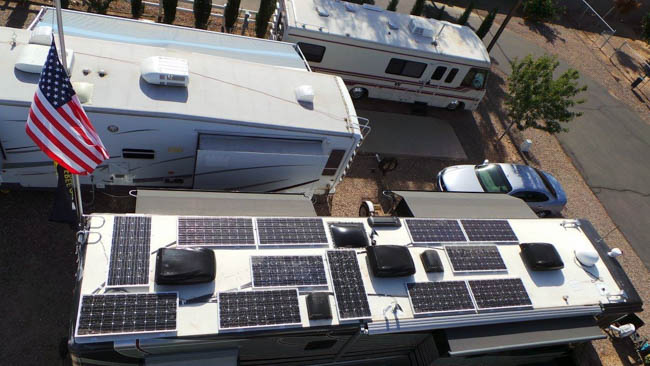 Country Coach Motorhome Solar Power System
