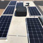 6x175W Solar Panels Installed on Roof of Winnebago Minnie Winnie